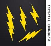 lightning bolt icons set ... | Shutterstock .eps vector #561241831