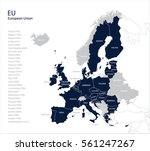 map of eu  european union | Shutterstock .eps vector #561247267