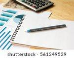 note book with  calculator ...   Shutterstock . vector #561249529
