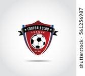 football club logo template....   Shutterstock .eps vector #561256987