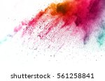 abstract powder splatted on... | Shutterstock . vector #561258841