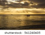 sunset in india ocean | Shutterstock . vector #561260605