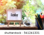 sunday   concept of canvas... | Shutterstock . vector #561261331