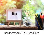 time   concept of canvas stand... | Shutterstock . vector #561261475