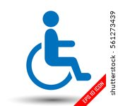 handicap person in wheelchair.... | Shutterstock .eps vector #561273439