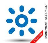 sun icon. simple flat logo of...