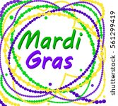mardi gras cheerful text with...   Shutterstock .eps vector #561299419