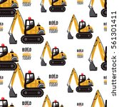seamless pattern with crawler...   Shutterstock .eps vector #561301411