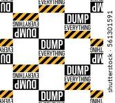 seamless pattern with dump...   Shutterstock .eps vector #561301591