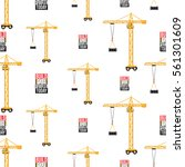 seamless pattern with tower...   Shutterstock .eps vector #561301609