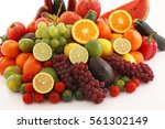 fresh fruits and vegetables | Shutterstock . vector #561302149