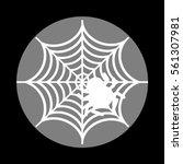 spider on web illustration...   Shutterstock .eps vector #561307981