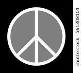 peace sign illustration. white...   Shutterstock .eps vector #561308101