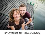 mother with her adult son...   Shutterstock . vector #561308209