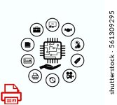 circuit board  technology icon  ...   Shutterstock .eps vector #561309295