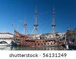 Old Spanish Galleon In Genova...