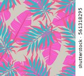 summer exotic floral tropical... | Shutterstock .eps vector #561318295