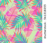 decorative colorful palm tree... | Shutterstock .eps vector #561318355