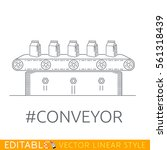 conveyor production. | Shutterstock .eps vector #561318439