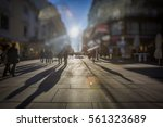 crowd of anonymous people... | Shutterstock . vector #561323689