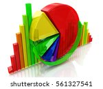 business colorful charts in the ... | Shutterstock . vector #561327541