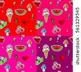 seamless pattern with fashion... | Shutterstock .eps vector #561329545