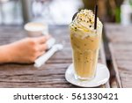 cookie frappe coffee in the... | Shutterstock . vector #561330421