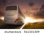 Bus Driving On A Road In The...