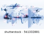 global logistics network web... | Shutterstock . vector #561332881