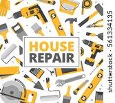 home repair banner.... | Shutterstock .eps vector #561334135