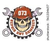 skull in a red helmet with...   Shutterstock .eps vector #561334657