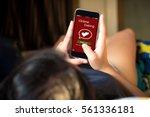 online dating scam concept... | Shutterstock . vector #561336181