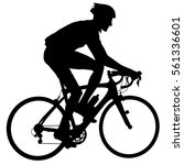 silhouette of a cyclist male.... | Shutterstock .eps vector #561336601