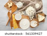 different types of dairy... | Shutterstock . vector #561339427