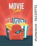 movie time. can be used for... | Shutterstock .eps vector #561339751
