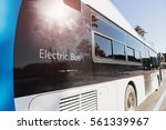 electric bus stands at the... | Shutterstock . vector #561339967
