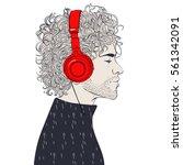 hipster fashion men | Shutterstock .eps vector #561342091
