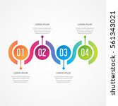 vector infographic design.... | Shutterstock .eps vector #561343021