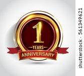 1st golden anniversary logo ... | Shutterstock .eps vector #561349621