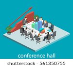 business meeting in an office... | Shutterstock .eps vector #561350755