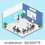business meeting in an office... | Shutterstock .eps vector #561350779