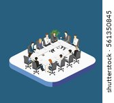 business meeting in an office... | Shutterstock .eps vector #561350845