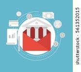 e commerce and m commerce flat... | Shutterstock .eps vector #561352015