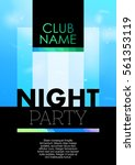 vertical contrast party poster... | Shutterstock .eps vector #561353119