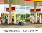 gas station at sunset. | Shutterstock . vector #561354679