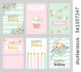 happy birthday and invitation... | Shutterstock .eps vector #561357247