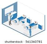 flat 3d illustration isometric... | Shutterstock .eps vector #561360781