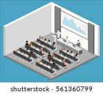 business meeting in an office... | Shutterstock .eps vector #561360799