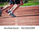 Small photo of Children in a running race
