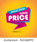 super price bubble banner in... | Shutterstock .eps vector #561368995